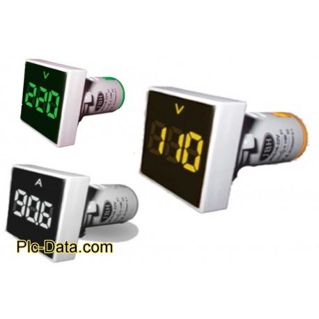 چراغ سیگنال ولتمتر مربع AC