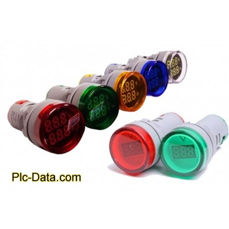 چراغ سیگنال های ولتمتر گردDC